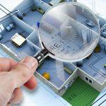Building plans under magnification