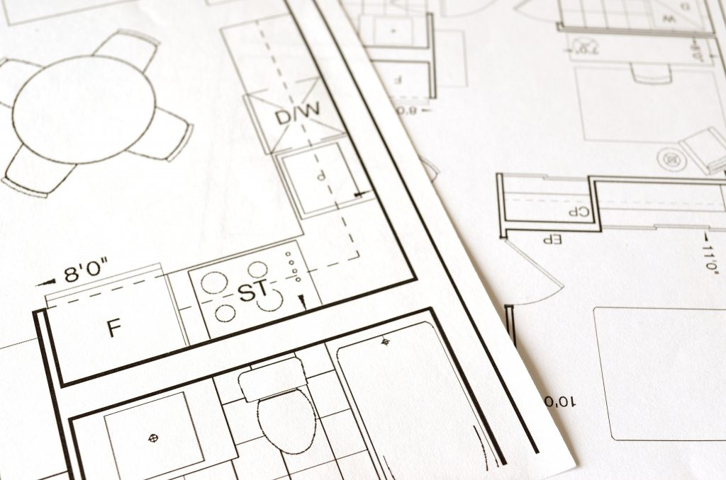 Set of building plans considering universal design